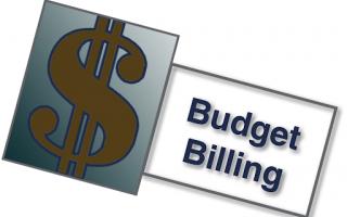 "dollar symbol next to ""budget billing"""