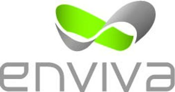 Enviva logo, grey and neon green