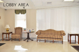 lobby area with couches